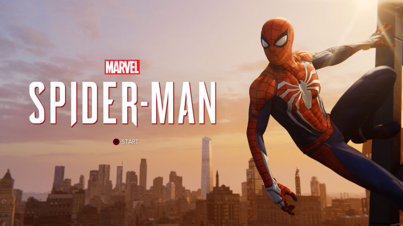 Marvel's Spider-Man タイトル画面
